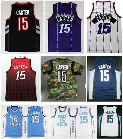sale retailer c5d81 eabe9 Wholesale Mens Vince Carter Jersey #15 White Purple Black Blue Red Camo  Cheap Best Stitched Basketba