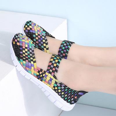 3e2dfa5f5151 wholesale STQ 2018 Summer women flats shoes women woven shoes flat casual  shoes flip flops female