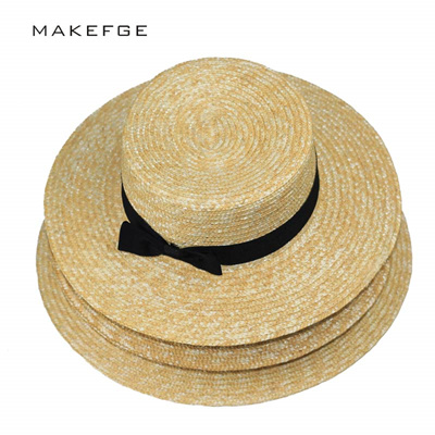 af76cff6a66 Qoo10 - wholesale summer hats for women Flat Top Straw beach hat Panama Hat  su...   Fashion Accessor.