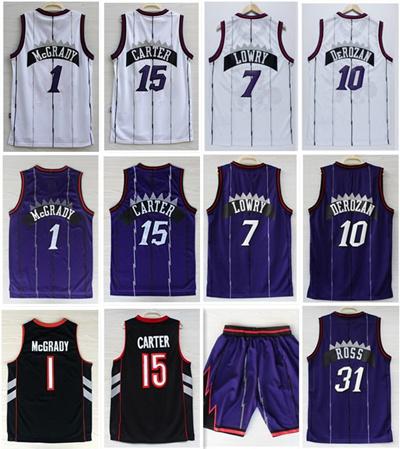 best website 48853 c72e4 Wholesale Toronto Men' s #15 Vince Carter jersey #1Tracy McGrady Lowry  DeRozan Throwback Basketball jersey Rev 30 Stitched Logo