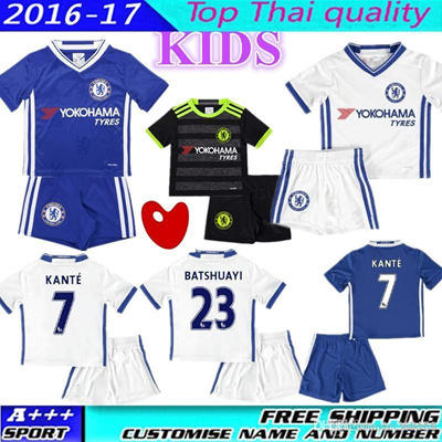154204782 Qoo10 - Whosales Chelsea kids Soccer Uniforms sets kit 2017 Youth Children  HAZ...   Sports Equipment