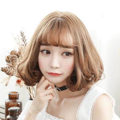 Qoo10 Wig Girl Short Hair Wave Head Pear Head Air Bangs Students
