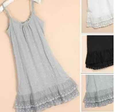 bd416cdf50e Wild cotton lace slip dress skirt long petticoats in the end of my night  gowns plus