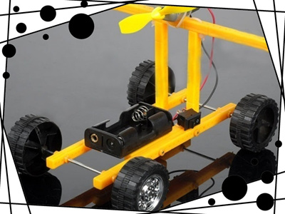 Wind Car Model DIY Puzzle Robot Kit For Arduino Spare Parts