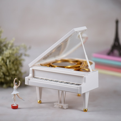 Wind-up Mechanical Piano Musical Music Box Classical Melody For Alice with Dancing Ballerina Girl
