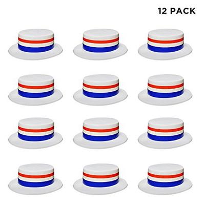 Windy City Novelties 12 Pack Patriotic Hats for Men Women Kids Bulk