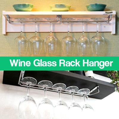 Qoo10 Wine Glass Rack Kitchen Dining