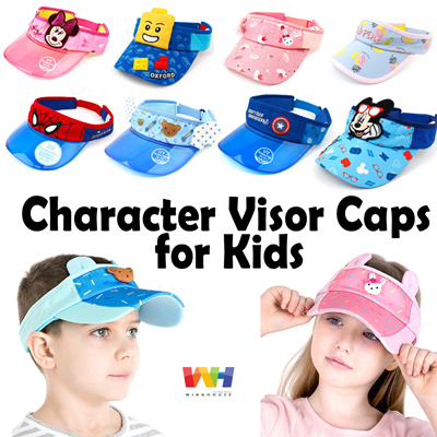 Qoo10 -  WingHouse  Sun Visor Hat for Kids Character Marvel Disney UV Rays  99....   Fashion Accessor. ae6fcdb6367