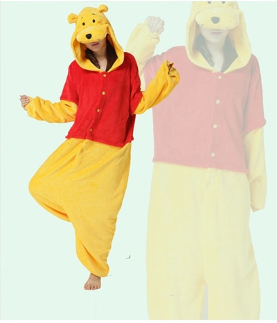Qoo10 - Winnie the Pooh Cartoon Siamese Pajamas、Cosplay Onesies、Home Wear  Slee...   Women s Clothing 6a11ae5ab