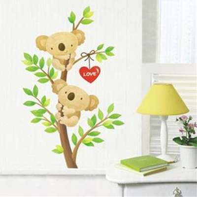 Winnie the pooh or mickey mouse bear boy wall sticker collection