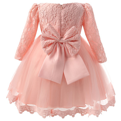 Winter Baby Girl Christening Gown Infant Princess Dress 1st Birthday Outfits Children Kids Party Wea