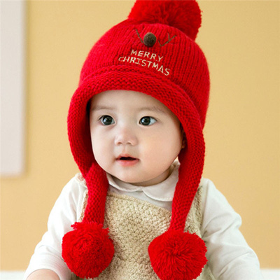d0489dd27 Qoo10 - Winter hat baby girl winter Knitted Wool Hats Caps for boys ...