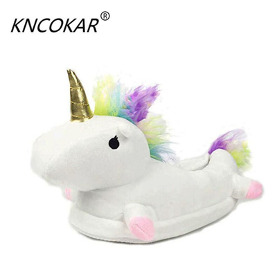 25257d0c766 Qoo10 - winter warm indoor slippers cute cartoon plush unicorn slippers  grown ...   Shoes