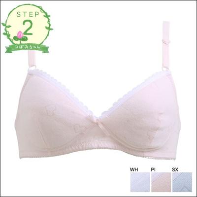 60226d0d8c Qoo10 - Wireless  Step 2 Jacquard Heart Junior Bra (Sizes A-B)(A403133)    Underwear   Socks