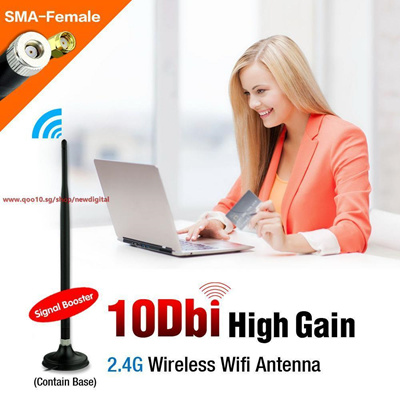 wireless wifi antenna 10dBi SMA Copper Connector Indoor Omni direction  Antenna high gain wifi cable