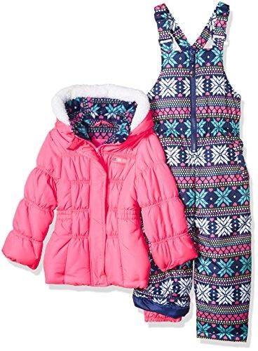 Pink Platinum Girls Printed Super Snowsuit