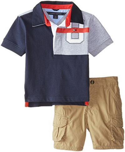 52f9d10f Qoo10 - [With MK]Tommy Hilfiger Baby Boys Big 85 Jersey Rugby Set, Swim  Navy, ... : Baby & Maternity