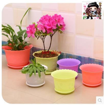 Qoo10 with tray candy colored lotus flower pot planting pots of with tray candy colored lotus flower pot planting pots of vegetables and fruits mightylinksfo