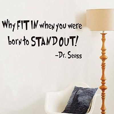 Qoo10 Witkey Why Fit In When You Were Born To Stand Out Dr Seuss