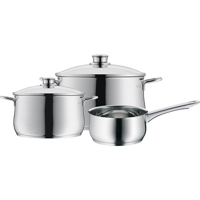 Qoo10 wmf diadem plus 0730636040 cookware set 3pcs for Qoo10 kitchen set