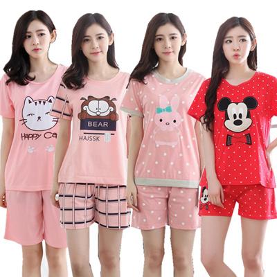 6bd5a4650fdd Woman summer sleepwear girl pajamas nightdress cartoon cute pajamas women  lingerie