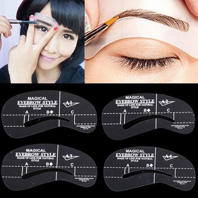 Qoo10 Women Cosmetic Makeup Tool Eyebrow Template Drawing Card