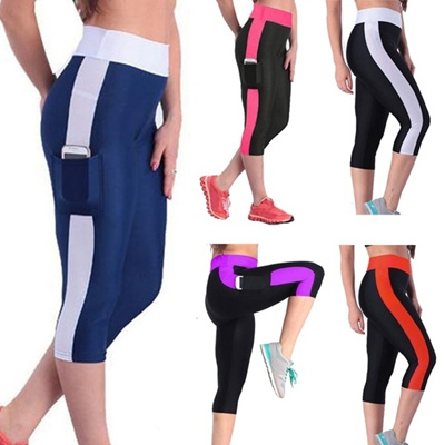 2fe7d5f617f30 Qoo10 - Women Elastic Yoga Tights Running Cropped Workout Leggings Fitness  GYM... : Men's Clothing