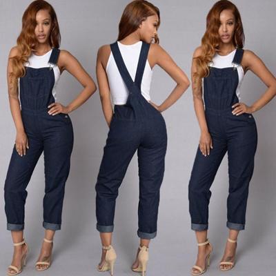 57f1a10533b6 Qoo10 - Women Fashion Denim Jeans BIB Pants Suspender Overalls Straps  Jumpsuit...   Women s Clothing