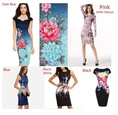 1794c614b14 Qoo10 - Women Floral Print Sleeveless Split Cocktail Party Bodycon Midi  Dress   Women s Clothing