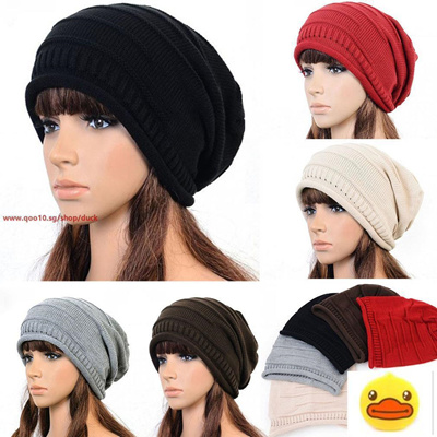 70e1b3a4780607 Qoo10 - Women Knit Hats Winter Hat Women Cap Beanie Hat Cotton Hip Hop Cap  : Fashion Accessories