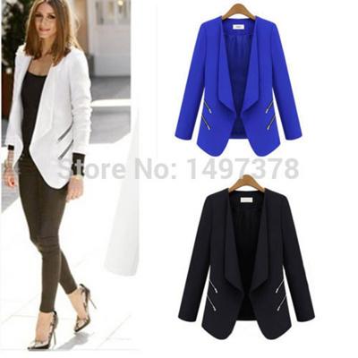 d1a2b40e98b Women Lady OL Office Long Sleeve Slim Casual Suit Blazer Jacket Coat Tops 4  Size B066