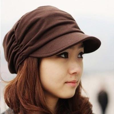 17188215508 Qoo10 - Women Lady Slouchy Peaked Cap Beanie Girl Pleated Sunhat Baseball  Hat   Fashion Accessories