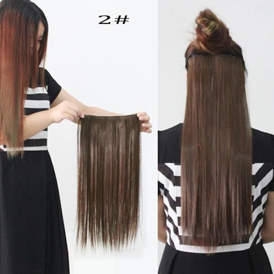 Qoo10 - Women Long Straight Hair One Piece Clips in Hair Extensions Full  Head ...   Computer   Game 4ef2fdbb30