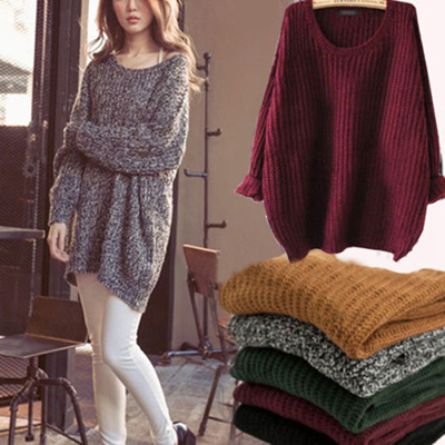 Qoo10 - Women Oversized Knitted Sweater Batwing Sleeve Tops Cardigan Loose  Out...   Women s Clothing 126377df4