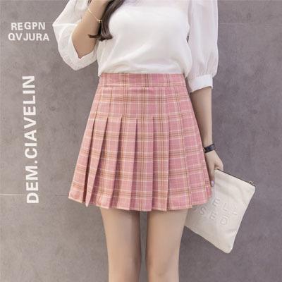 8e9acf40a Qoo10 - Plaid Skirt : Women's Clothing