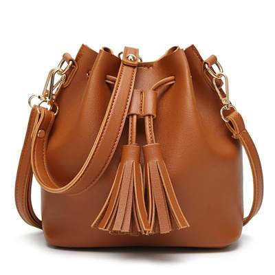 eb6539ae99b6 Qoo10 - Women Pu Leather Bag Fashion Shoulder Crossbody Tassel ...