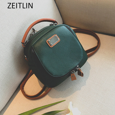 Women PU leather Mini Chic Backpack Female Travel Shoulder Bag Classic  Girls Casual School Bag a91c78f83d388