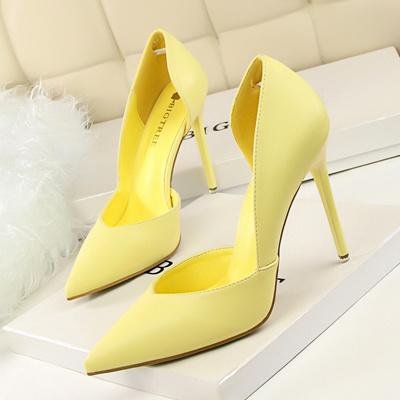 Qoo10 Women Pumps Fashion High Heels Shoes Black Pink Yellow