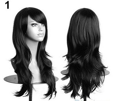 Qoo10 - Women s Lady Long Hair Wig Curly Wavy Synthetic Anime Cosplay Tool  Par...   Women s Clothing 9855b9036c