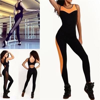 5850c96feeb2 Qoo10 - Women s Splice Sports YOGA Workout Gym Fitness Leggings Pants  Jumpsuit...   Sports Wear   Sh..
