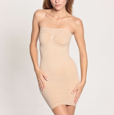 10a407af9f0d5 Qoo10 - Women Seamless Slimming Control Body Shaper Tube Dress Slips Boob  Tube...   Women s Clothing