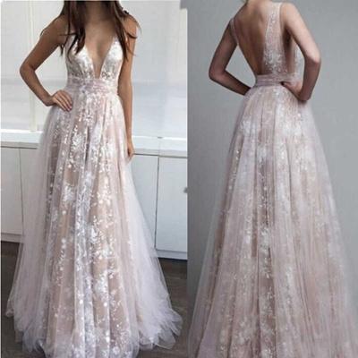 Qoo10 Women Sexy Deep V Neck Boho Wedding Dress Plus Size