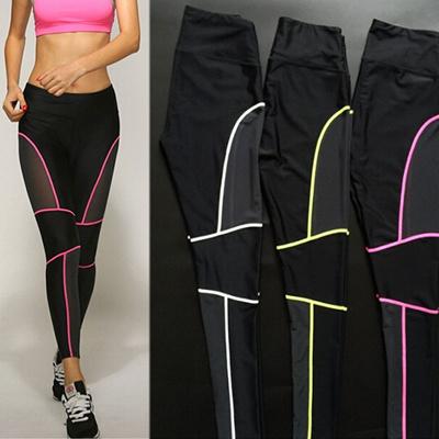 e22e5b697f1dd Qoo10 - Women Side Mesh Cropped Leggings Yoga Track Pants GYM Fitness  Sports W... : Sportswear