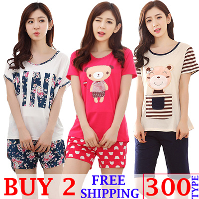 Women sleepwear cute and lovely girl pajamas long sleeve women pajamas  short sleeve summer clothes c2405e099