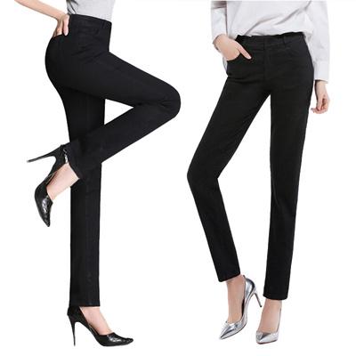 Women Straight Cut Trouser Las Office Pants Lady Black M402 2d