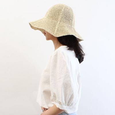 62f065fe Qoo10 - Women Sun Hats Beige Wire Dense Summer Bucket Hat : Fashion  Accessories