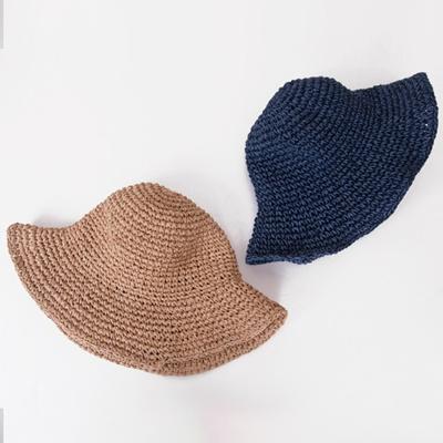 f591e636 Qoo10 - Women Sun Hats Easy-to-carry knitting bucket Hat c : Fashion  Accessories