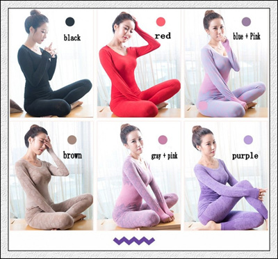bb62f0239b Women tunic Winter Thermal Underwears Seamless Breathable Warm Long Johns  Ladies top+pants