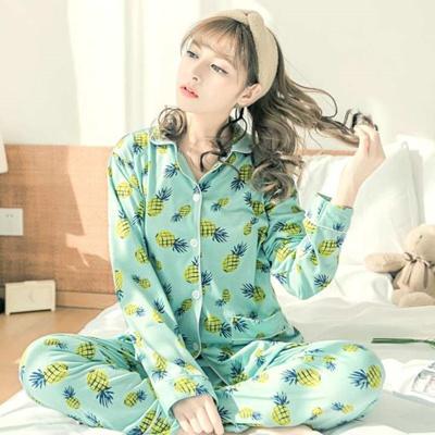 e408dd9d44 Women Winter Pajama Set Soft Printing pijama Home Pyjamas Woman Cotton  Pyjama Set Sleepwear Pajamas