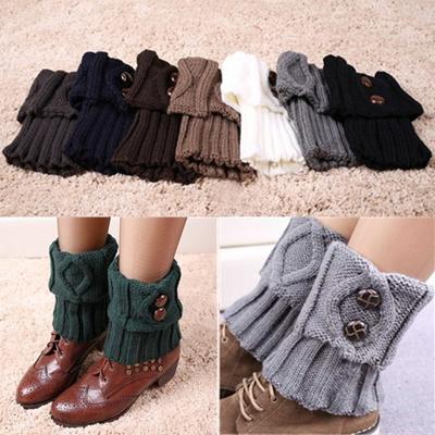 1b1277070 Qoo10 - Women Winter Short Leg Warmers Fashion Button Crochet Knit Boot  Socks ... : Watches